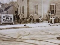 CWA workers building a library in Maryland.