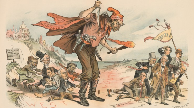 An anti-populist cartoon from the 1890s, as reproduced by Thomas Frank