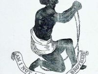 The image on a medallion created by Englishman Josiah Wedgwood in 1787.