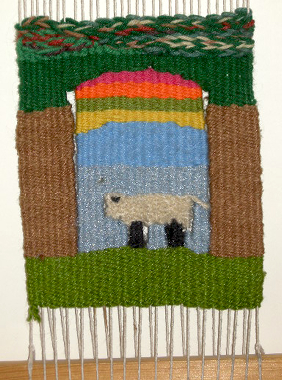 "3rd grade Tapestry"", 9""h X 8""w, 6 epi, photo: Lynda Brothers"