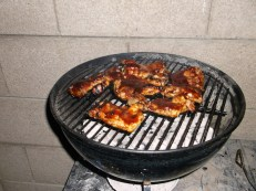 chicken on Weber grill jsergovic