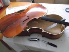 taking the top off a cello