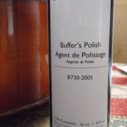 behlen buffer's polish reflected on cello