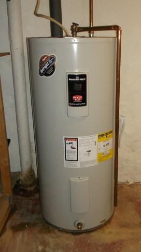 bradford white installed water heater