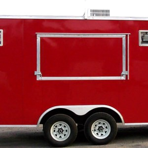 Loaded Red 8.5×20 Concession Trailer Model Photo
