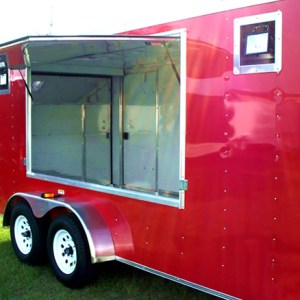 Red Concession / Enclosed Trailer Model Photo