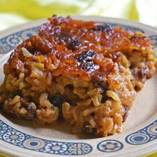 American Vegan Society Rice Pudding