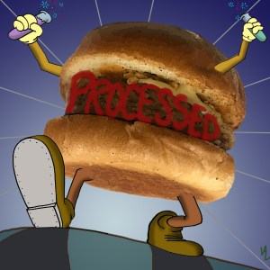Scary processed burger