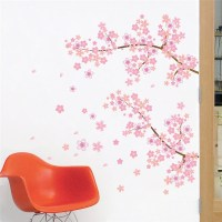 Pink Cherry Blossom Romantic Garden Tree Wall Decal ...