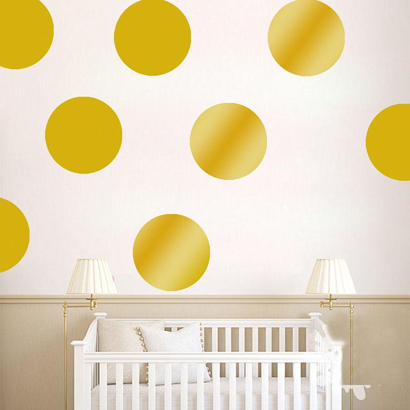 Gold Polka Dot Nursery Wall Decals  American Wall Decals