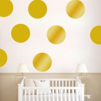 Gold Polka Dot Nursery Wall Decals  American Wall Decals