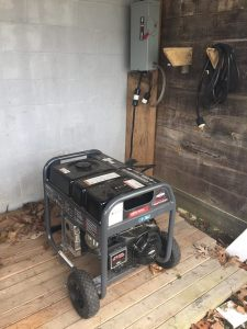 One of my two generators I purchased after the ice storm.