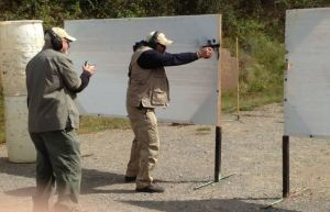 AWS Co-Founder Rich Brown competing in a local IDPA match. [Photo Credit: Rich Brown]