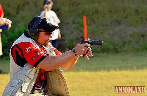 AWS Founder and professional shooter Mike Seeklander during an IDPA match. [Photo Credit: www.ammoland.com]