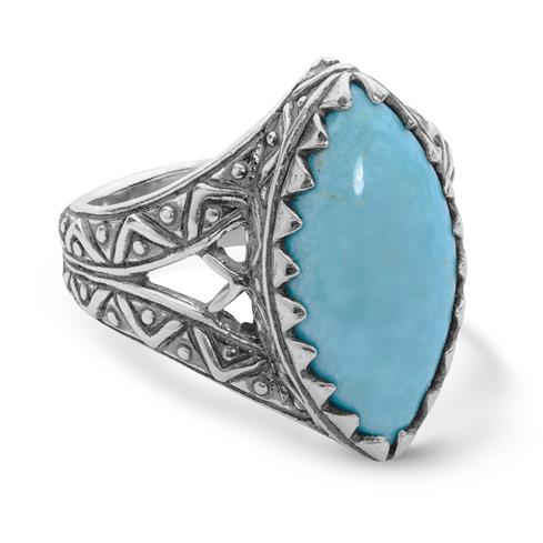 Sterling Silver & Kingman Turquoise Ring