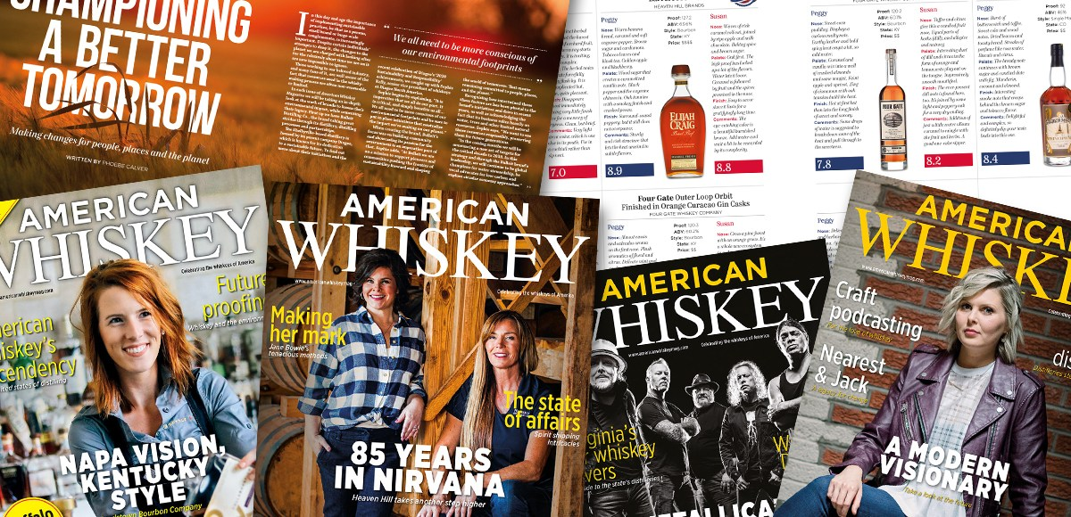 An assortment of American Whiskey magazines