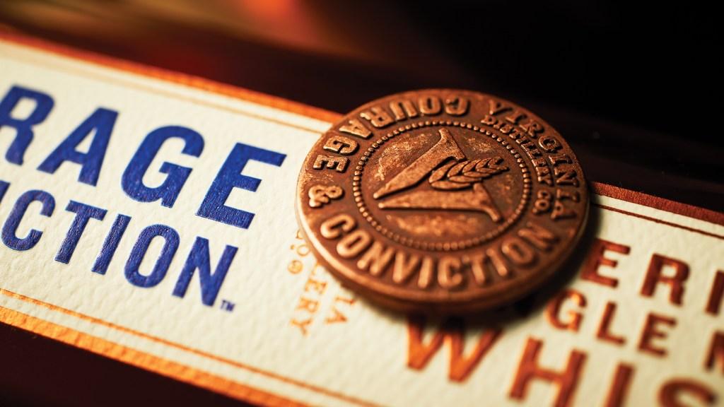 Courage & Conviction bottle label up close