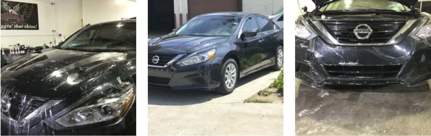 Black Nissan Altima XPEL paint protection installation