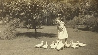 Flannery O'Connor with ducks