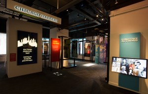 The Wintrust Chicago Gallery and Hometown Authors display