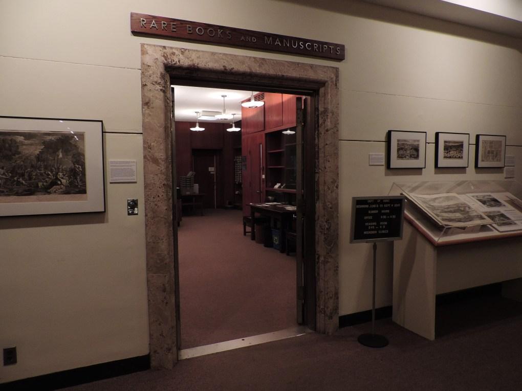 Rare Books and Manuscripts library at Princeton University