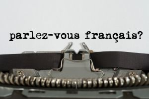 parlez-vous francais? written on a typewriter