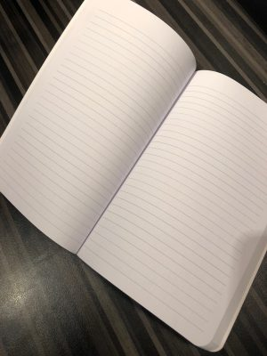 American Writers Museum logo notebook, lined inside pages