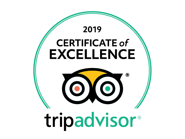 A Tripadvisor logo showing that the AWM received a 2019 Certificate of Excellence