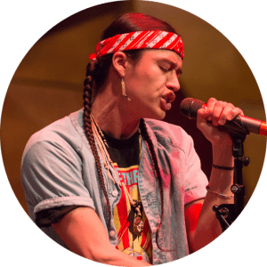 Frank Waln performs at the American Writers Museum