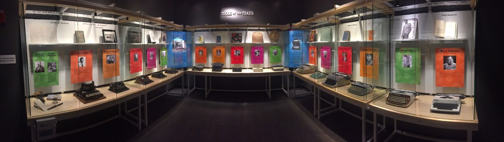 Panorama of the Tools of the Trade exhibit now on display at the American Writers in Chicago this summer