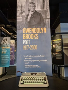 Gwendolyn Brooks typewriter on display at the American Writers Museum