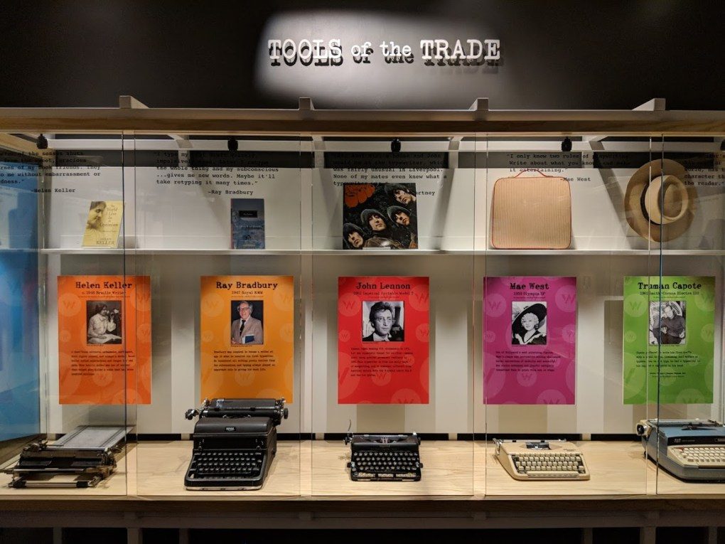 Tools of the Trade exhibit explores writing practice through the ages at the American Writers Musuem