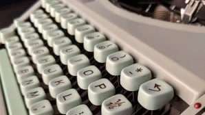 Gwendolyn Brooks' typewriter keys, on display at the American Writers Museum in Chicago
