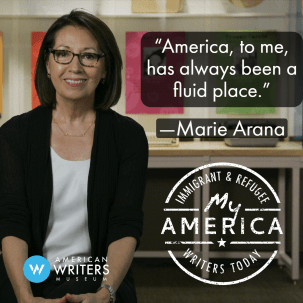Marie Arana part of the American Writers Museum's My America exhibit