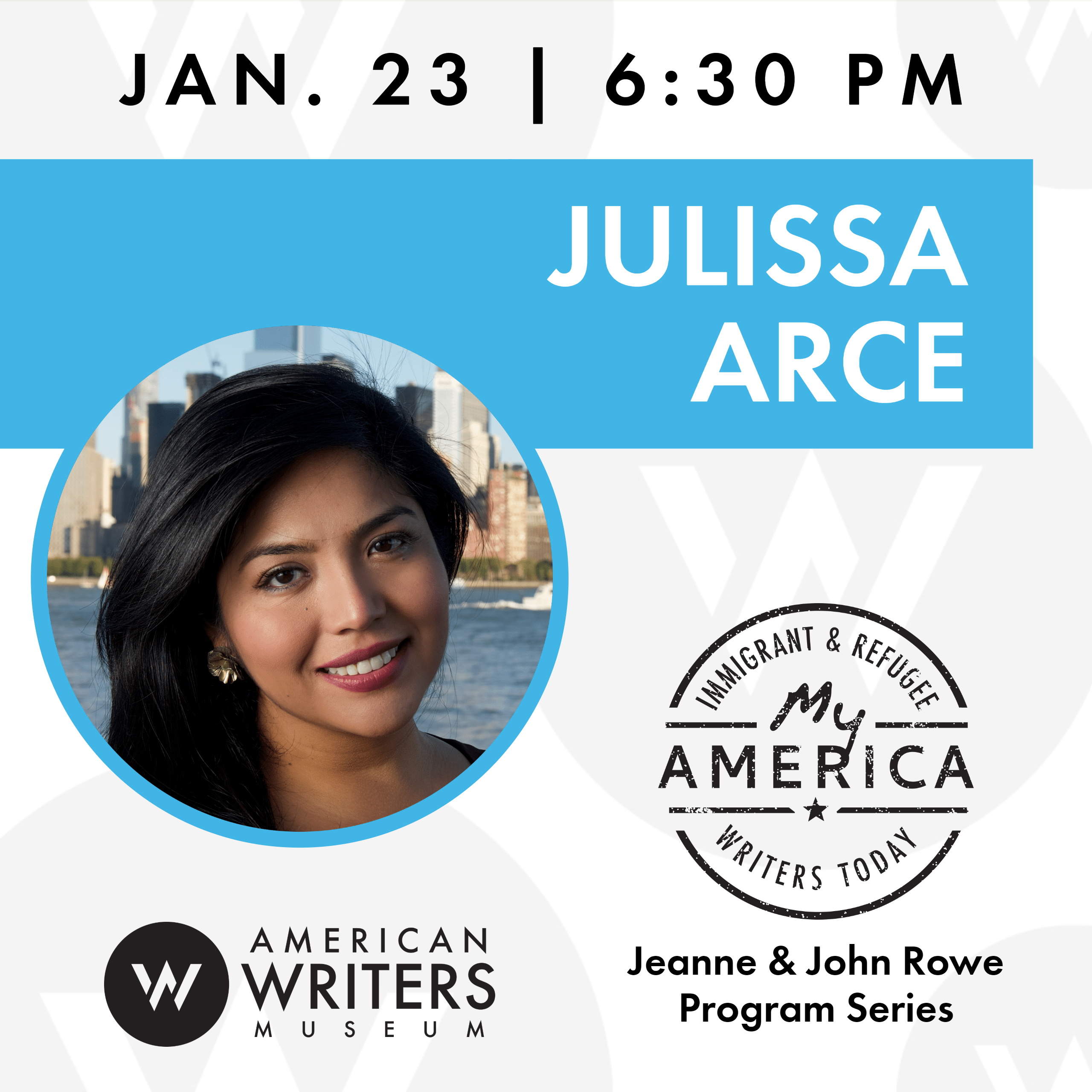 Julissa Arce book reading and signing at the American Writers Museum on January 23