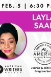 Layla Saad at the American Writers Museum on February 5, 2020
