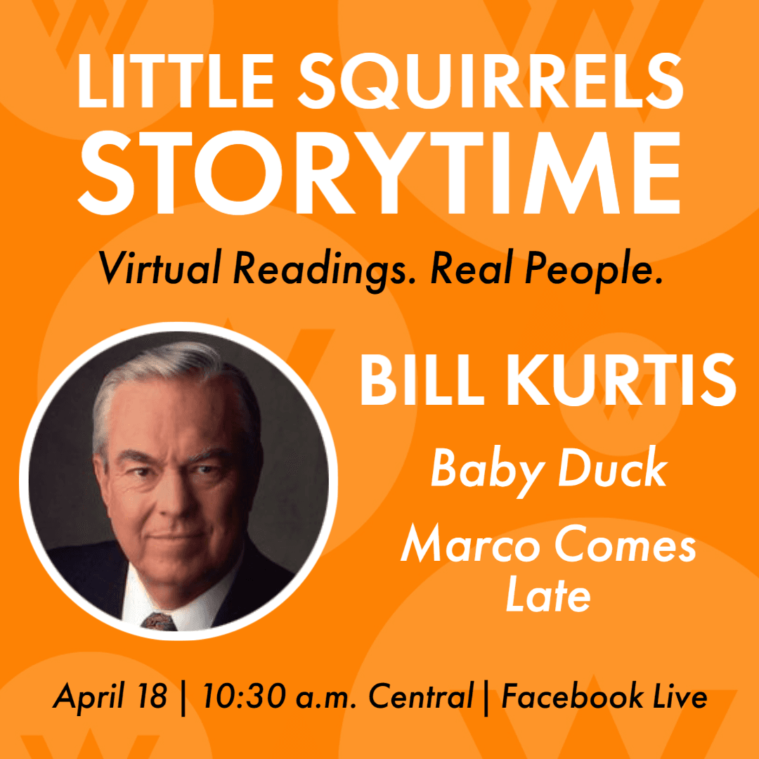 Bill Kurtis reads two children's books for the American Writers Museum's virtual storytimes