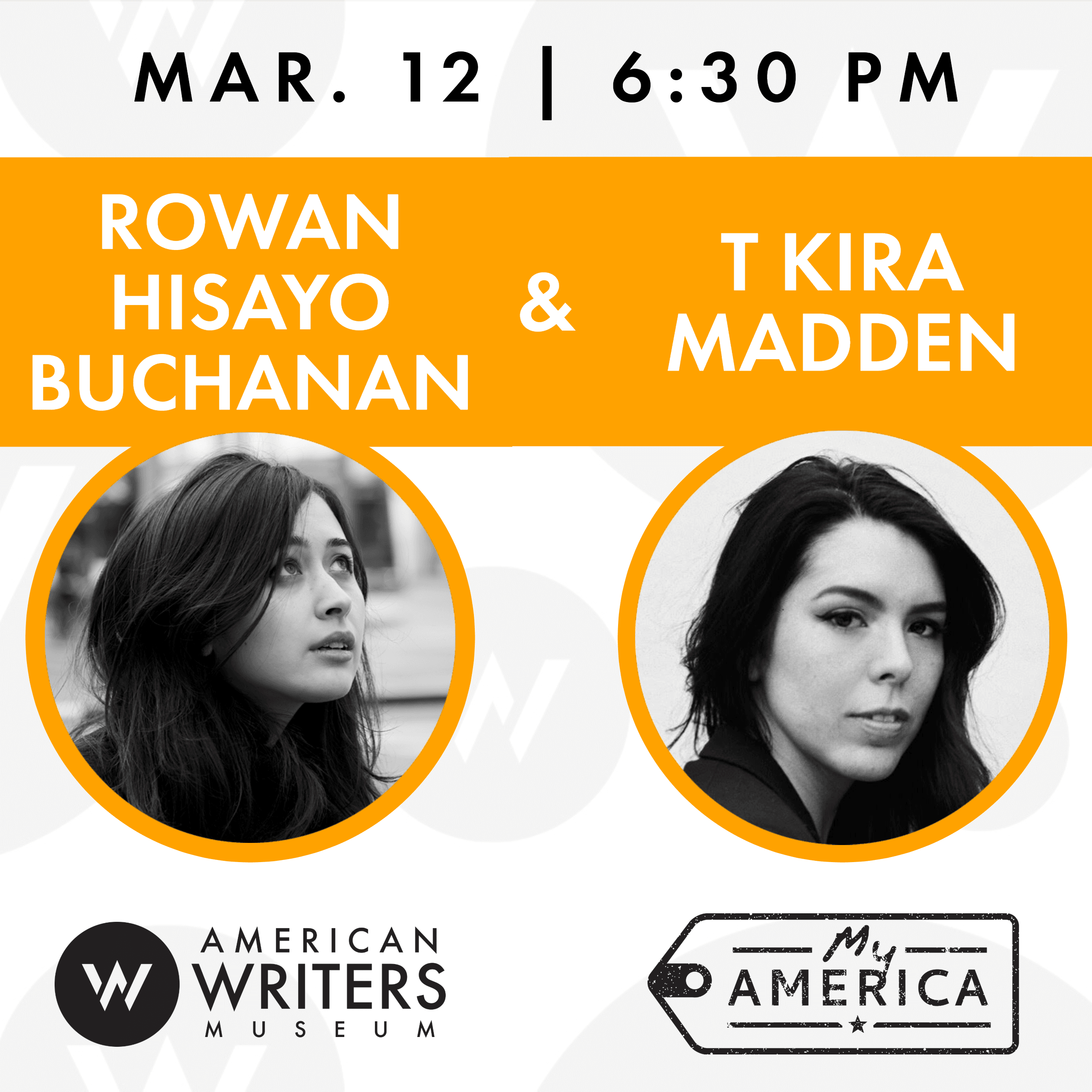 Rowan Hisayo Buchanan and T Kira Madden at the American Writers Museum on March 12, 2020