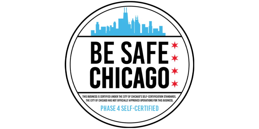 Be Safe Chicago Phase 4 self-certified