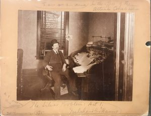 Joel Chandler Harris at the Atlanta Constitution office