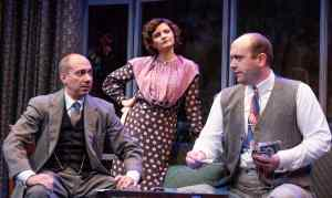 Evan Zes, Mary Bacon, and Geoffrey Allen Murphy in DAYS TO COME by Lillian Hellman, directed by J.R. Sullivan. Photo by Todd Cerveris