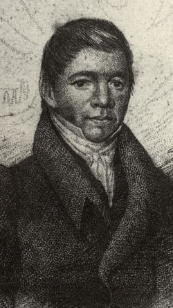 Black and white portrait of William Apess