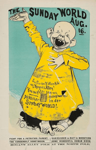 "Drawing of ""The Yellow Kid"" in New York World circa 1896"