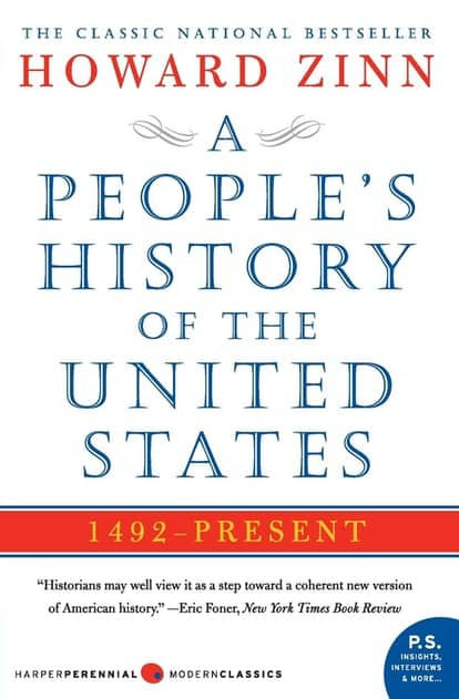 A People's History of the United States by Howard Zinn book cover