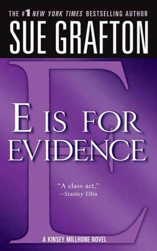 E is for Evidence by Sue Grafton book cover