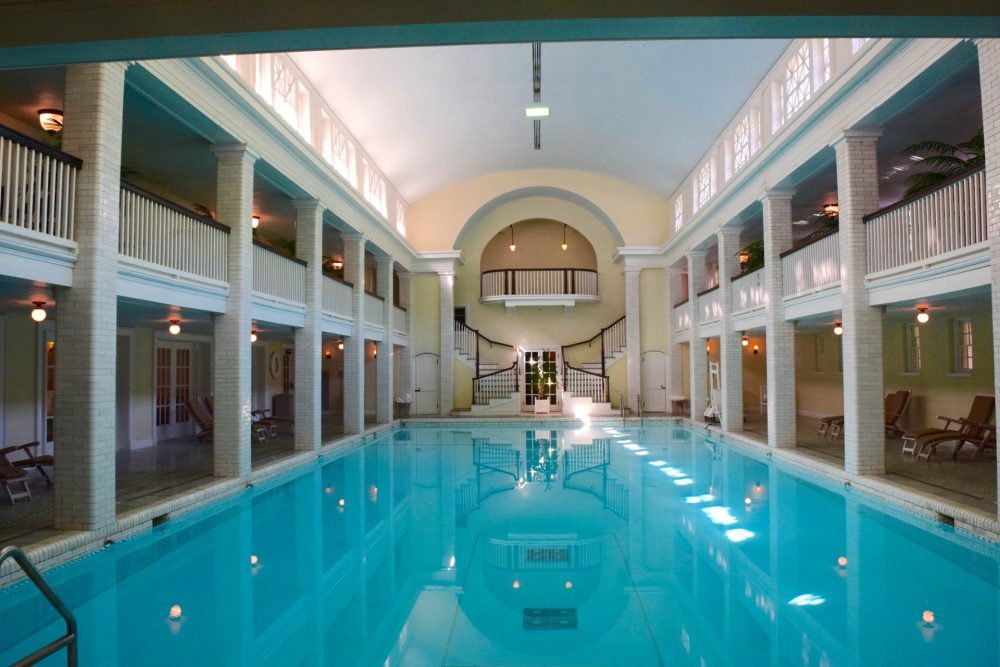 Indoor mineral water pool
