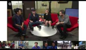 """NASA Connects Space Station and """"Star Trek Into Darkness"""" Crews in a Google+ Hangout"""