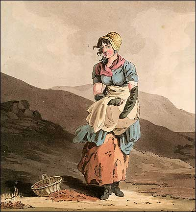 An 1814 English engraving by Robert Havell after George Walker, The Cranberry Girl.