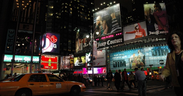Times Square bei Nacht