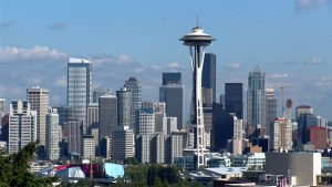 Die Stadt Seattle in Washington